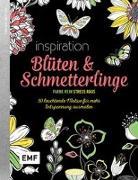 Cover-Bild zu Black Edition: Blüten und Schmetterlinge
