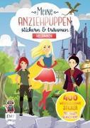Cover-Bild zu Meine Anziehpuppen - stickern & träumen: Heldinnen von Liepins, Carolin (Illustr.)