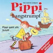 Cover-Bild zu Pippi Langstrumpf 02. Pippi gaht ufs Schiff von Lindgren, Astrid