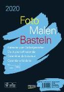 Cover-Bild zu Foto-Malen-Basteln Bastelkalender A5 schwarz 2020