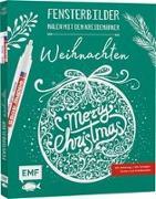Cover-Bild zu Vorlagenmappe Fensterbilder malen mit dem Kreidemarker - Weihnachten - Merry Christmas