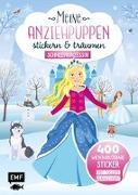 Cover-Bild zu Meine Anziehpuppen - stickern & träumen: Schneeprinzessin von Liepins, Carolin (Illustr.)