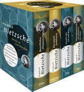 Cover-Bild zu Nietzsche, Friedrich: Friedrich Nietzsche, Werke in vier Bänden (Menschliches, Allzu Menschliches - Also sprach Zarathustra - Jenseits von Gut und Böse - Götzendämmerung/Der Antichrist/Ecce Homo) (4 Bände im Schuber)