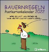 Cover-Bild zu Holzach, Alexander: Bauernregeln 2022 - Postkarten-Kalender - Kalender-mit-Postkarten - zum-raustrennen - 16x17