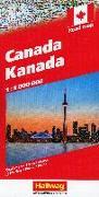 Cover-Bild zu Hallwag Kümmerly+Frey AG (Hrsg.): Kanada Strassenkarte 1:4 Mio. 1:4'000'000