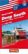 Cover-Bild zu Hallwag Kümmerly+Frey AG (Hrsg.): Deep South, Mississippi Valley, Gulf of Mexico Strassenkarte 1:1 Mio., Road Guide Nr. 10. 1:1'000'000