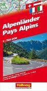 Cover-Bild zu Hallwag Kümmerly+Frey AG: Alpenländer Strassenkarte 1:750 000. 1:750'000