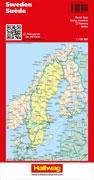 Cover-Bild zu Hallwag Kümmerly+Frey AG (Hrsg.): Schweden Strassenkarte 1:750'000. 1:800'000