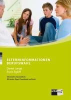 Cover-Bild zu Berufswahltagebuch von Egloff, Erwin