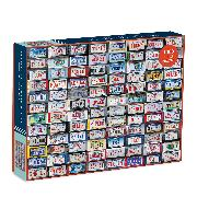 Cover-Bild zu Galison (Geschaffen): Button Up America 500 Piece Puzzle