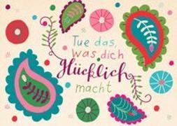 """Cover-Bild zu Claire Karte """"Glücklich"""" von Zintenz"""