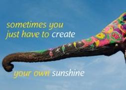 Cover-Bild zu Weisheits-Postkarte: sometimes you just have to create your own sunshine von Zintenz