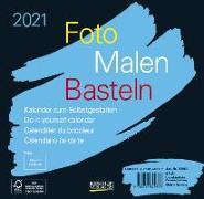 Cover-Bild zu Foto-Malen-Basteln Bastelkalender schwarz quer 2021