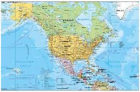 Cover-Bild zu Nord- und Mittelamerika politisch 1 : 90.000 000. 1:90'000'000 von Stiefel, Heinrich