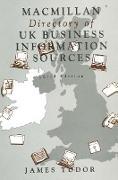 Cover-Bild zu Macmillan Directory of UK Business Information Sources (eBook) von Tudor, James (Hrsg.)