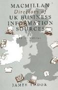 Cover-Bild zu Macmillan Directory of UK Business Information Sources von Tudor, James (Hrsg.)