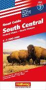 Cover-Bild zu South Central, Central Plains, Ozark Plateau Strassenkarte 1:1 Mio., Road Guide Nr. 7. 1:1'000'000