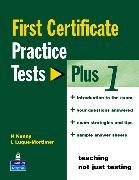 Cover-Bild zu First Certificate Practice Test Plus 1 FCE Practice Tests Plus 1 Without Key - First Certificate Practice Tests Plus von Kenny, Nick