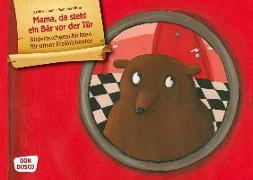 Cover-Bild zu Mama, da steht ein Bär vor der Tür. Kamishibai Bildkartenset von Lipan, Sabine