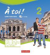 Cover-Bild zu À toi !, Vier- und fünfbändige Ausgabe, Band 2, Lehrermaterialien mit CD-Extra im Ordner, CD-ROM und CD auf einem Datenträger