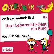 Cover-Bild zu Ohrenbär - eine OHRENBÄR Geschichte, Folge 3: Herr Leberecht kriegt ein Kind (Audio Download) von Mebs, Gudrun