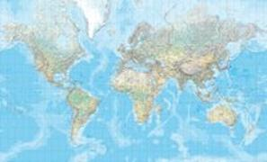 Cover-Bild zu Welt physikalisch Poster (d, e, f) 1:20 Mio. 1:20'000'000