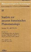 Cover-Bild zu Ricoeur, Paul (Beitr.): Studien zur neueren französischen Phänomenologie