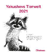 Cover-Bild zu Yakushev, Sergey: Yakushevs Tierwelt 2021 - Wand-Kalender - Tier-Kalender - 30x34 - Illustrationen
