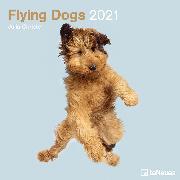 Cover-Bild zu Christe, Julia: Flying Dogs 2021 - Wand-Kalender - Broschüren-Kalender - 30x30 - 30x60 geöffnet - Hunde-Kalender