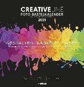 Cover-Bild zu teNeues Calendars & Stationery GmbH & Co. KG: Foto-Bastelkalender groß schwarz 2021 - Kreativ-Kalender - DIY-Kalender - Kalender-zum-basteln - 32x33 - datiert