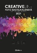 Cover-Bild zu teNeues Calendars & Stationery GmbH & Co. KG: Foto-Bastelkalender schwarz 2021 - Kreativ-Kalender - DIY-Kalender - Kalender-zum-basteln - 21x29,7 - datiert