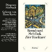 Cover-Bild zu Der Vorleser (Audio Download) von Schlink, Bernhard