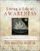 Cover-Bild zu Living a Life of Awareness: Daily Meditations on the Toltec Path von Ruiz, Don Miguel