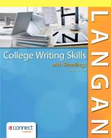 Cover-Bild zu College Writing Skills with Readings with Connect Plus Access Card Package von Langan, John