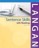 Cover-Bild zu Sentence Skills with Readings W/ Connect Writing 2.0 von Langan, John