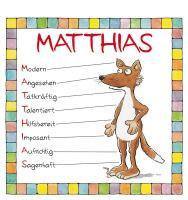 Cover-Bild zu Namenskalender Matthias