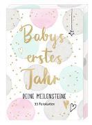Cover-Bild zu Mußenbrock, Anne (Illustr.): Fotokarten-Box - Babys erstes Jahr - Deine Meilensteine