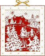 Cover-Bild zu Mußenbrock, Anne (Illustr.): Wand-Adventskalender - Weihnachtlicher Scherenschnitt
