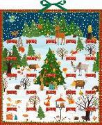 Cover-Bild zu Mußenbrock, Anne (Illustr.): Bunte Winter-Weihnachts-Tierwelt Zettelkalender