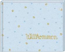 Cover-Bild zu Mußenbrock, Anne (Illustr.): Babyalbum - BabyGlück - Willkommen. Hellblau