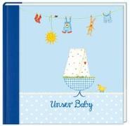 Cover-Bild zu Mußenbrock, Anne (Illustr.): Eintragalbum - Unser Baby (hellblau)