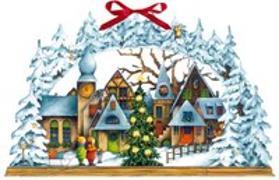 Cover-Bild zu Mußenbrock, Anne (Illustr.): Wandkalender - Lichterbogen Weihnachtsdorf