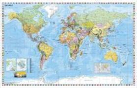 Cover-Bild zu Weltkarte deutsch. 1:33'000'000 von Stiefel, Heinrich