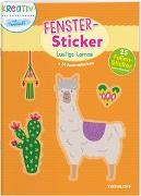 Cover-Bild zu Fenster-Sticker. Lustige Lamas