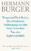 Cover-Bild zu Die allmähliche Verfertigung der Idee beim Schreiben. Tractatus logico-suicidalis (eBook) von Burger, Hermann