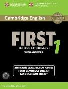 Cover-Bild zu Cambridge English First 1. Student's Book Pack with Answers