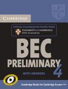 Cover-Bild zu Preliminary 4: Self-study Pack with answers - Cambridge Business English Certificate BEC