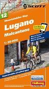 Cover-Bild zu Lugano, Malcantone Mountainbike-Karte Nr. 12, 1:50 000. 1:50'000 von Hallwag Kümmerly+Frey AG (Hrsg.)