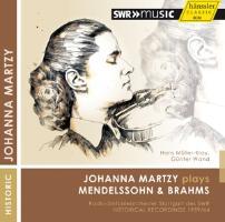 Cover-Bild zu Johanna Martzy plays Mendelssohn und Brahms