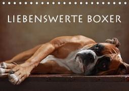 Cover-Bild zu Behr, Jana: Liebenswerte Boxer (Tischkalender 2021 DIN A5 quer)